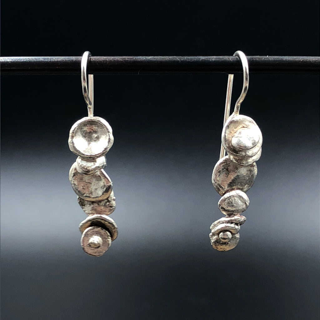 Water Cast Wire Earrings