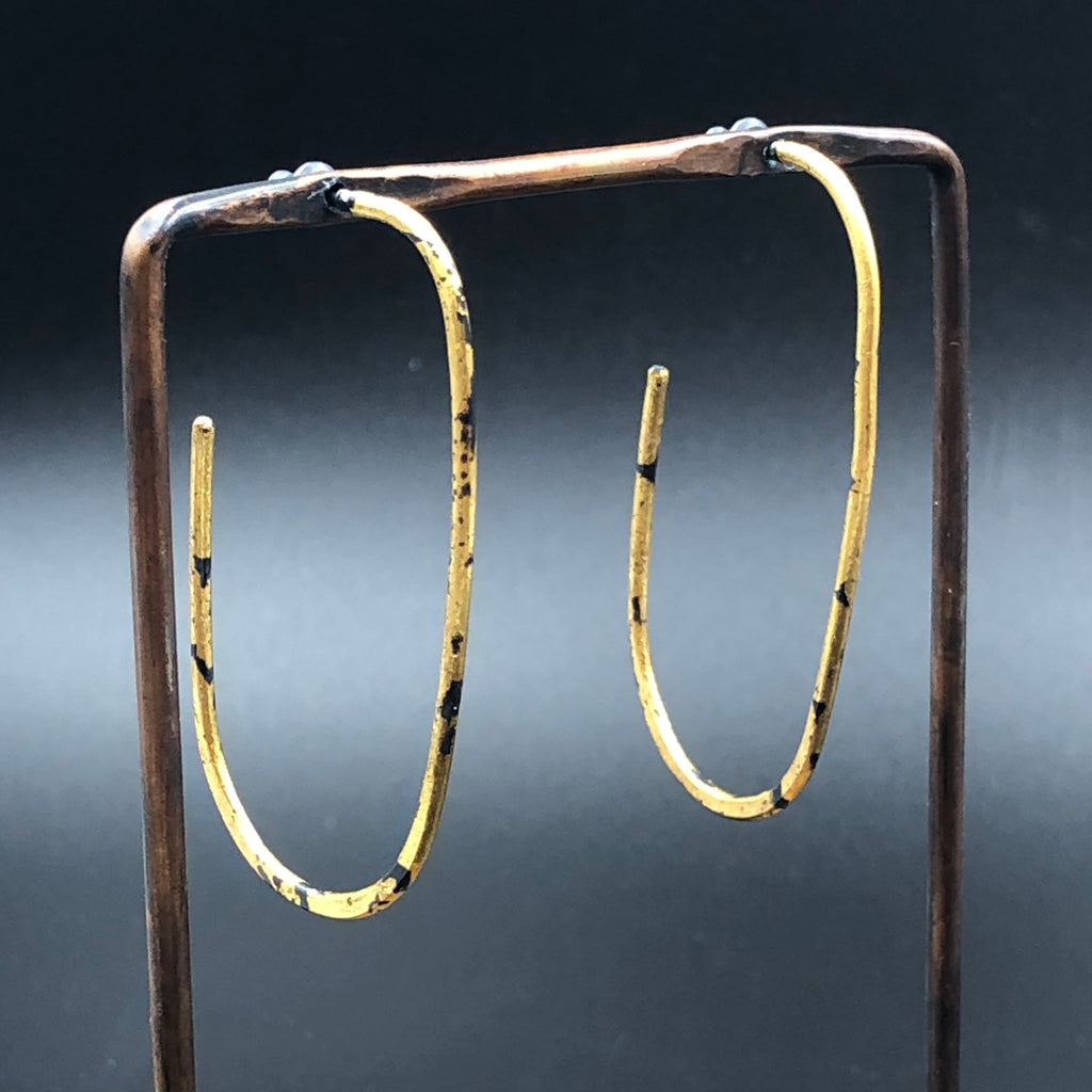 Oval Gold Sickle Hoops
