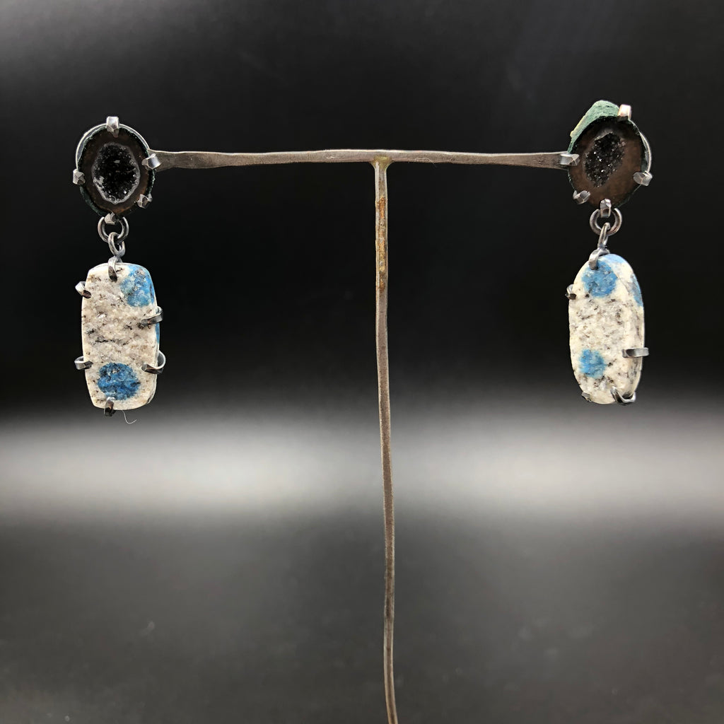 Geode and Mineral Drop Earrings
