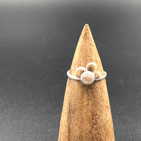 Flower Rose Quartz Ring