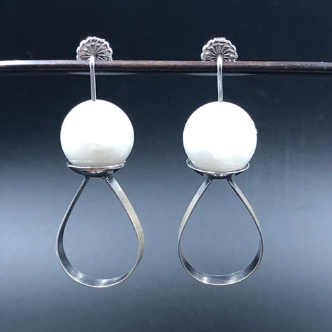 Moonstone Drop Balance Earrings