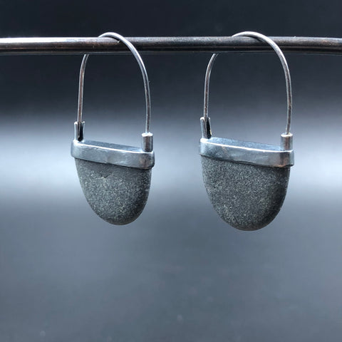Half Rock Hook Earrings