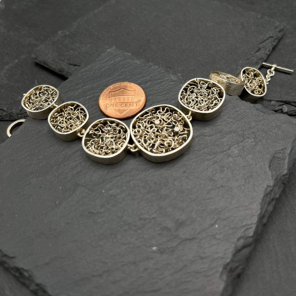 Sienna Double Wrap Silver & Leather Bracelet