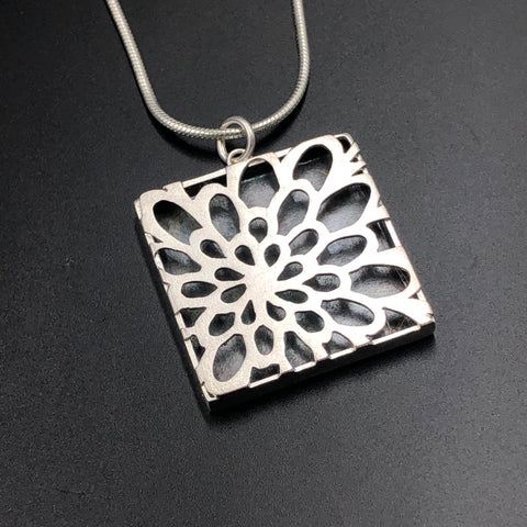Flower Shadow Box Necklace