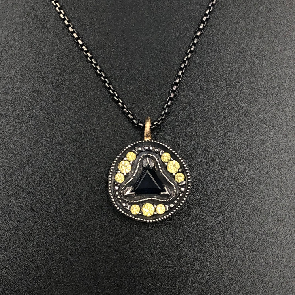 Three Pointed Star Coin Necklace