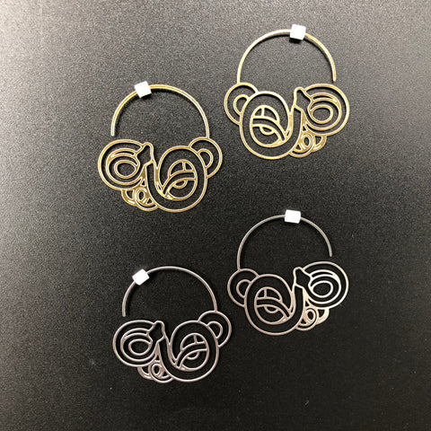 Tangled Snake Hoops - Small