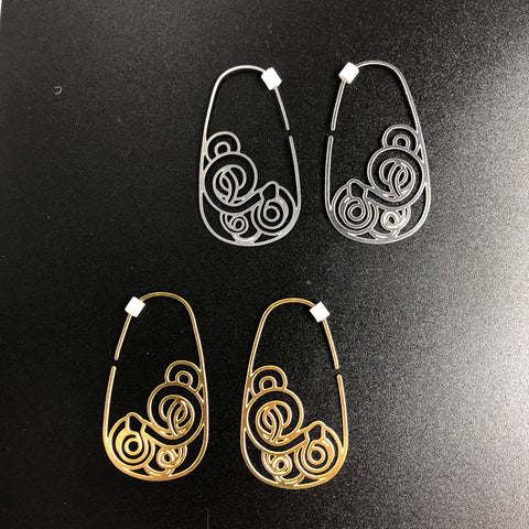 Framed Tangles Snake Hoops - Small