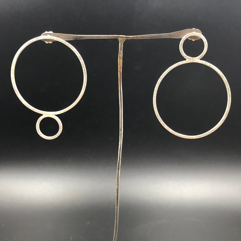 Asymmetrical Circles Stud Earrings
