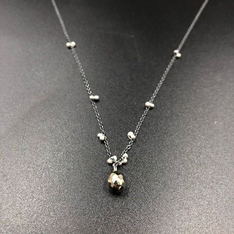 Solitaire Necklace with Pyrite - OXSS