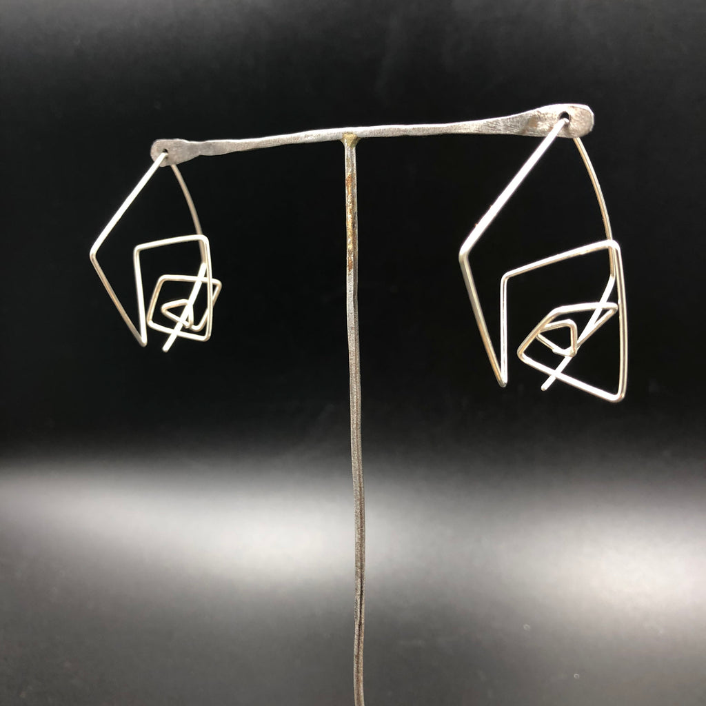 Wire Pull-through Earrings