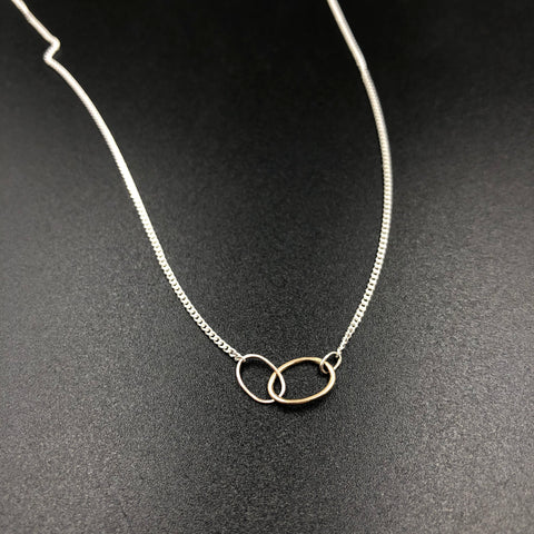 3 Ovals Mixed Metal Necklace