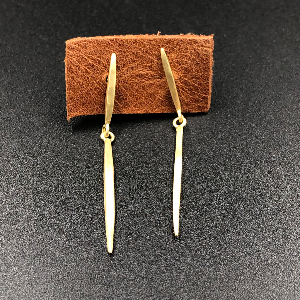 Short Icicle Post Earrings in Gold