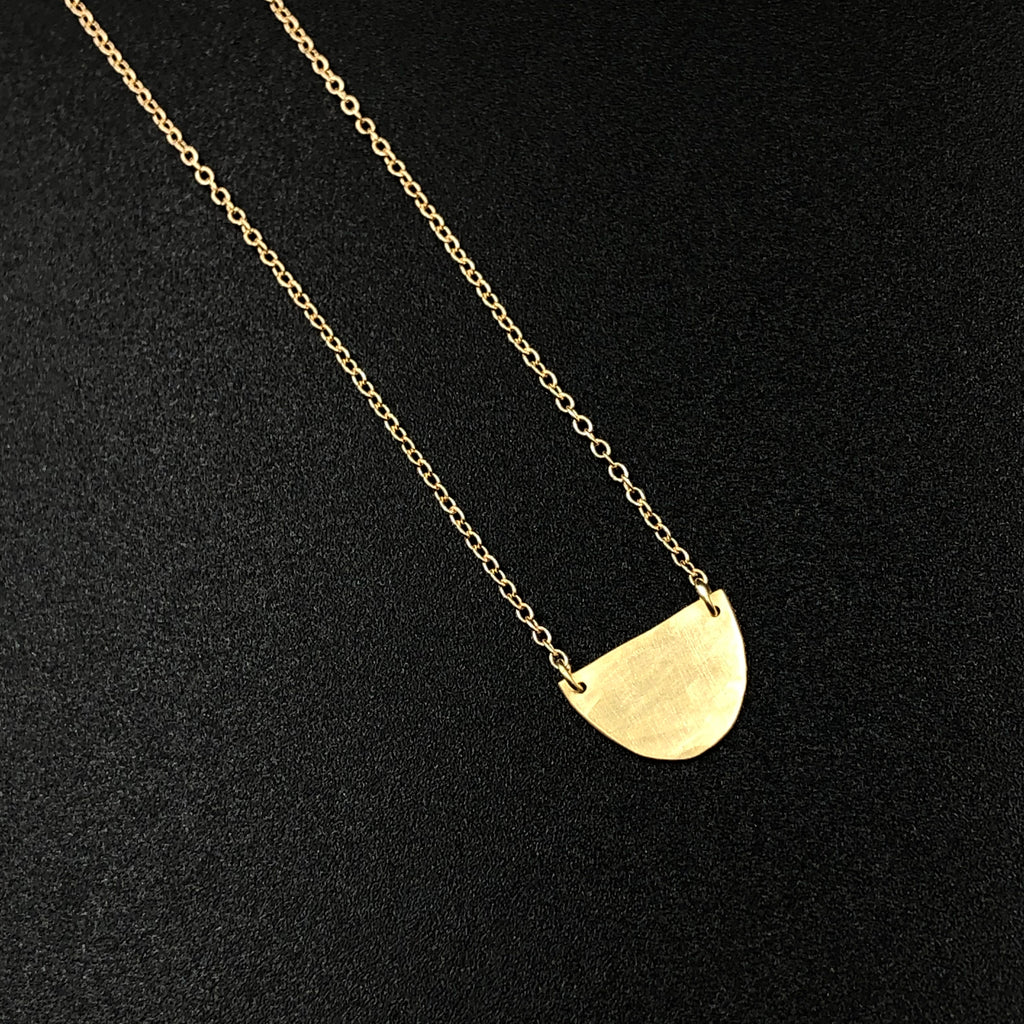 Half Circle Necklace in Gold