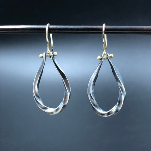 Bias Raindrop Earrings
