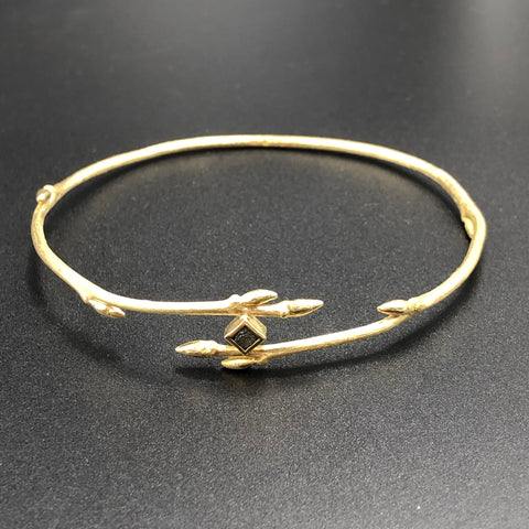 Gold Twig Bangle