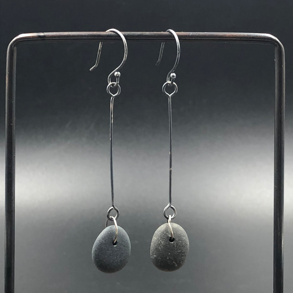Stick Drop Rock Earrings