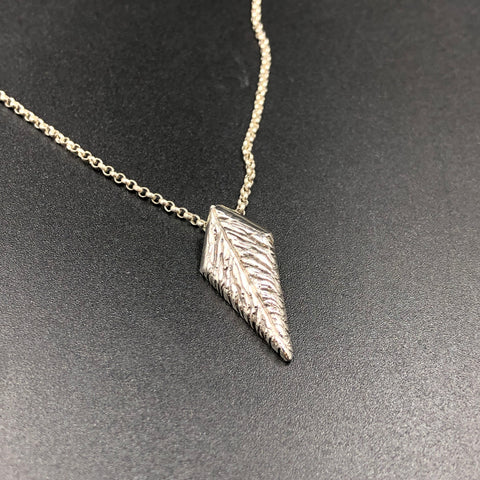 Stylized Feather Pendant