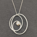 Oval Swirl Pendant with Pearl