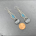 Quartz Woven Earrings with Chalcedony