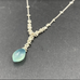 Cascading Caviar Necklace With Blue Chalcedony