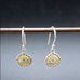 Seeds of Harmony Earrings With Aquamarine