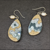 Rockpool Earrings resin jewelry with pearl