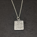 Woven Sterling Silver Pendant - Medium