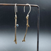 Twig Earrings with Topaz