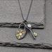 Starry Lock and Key Pendant