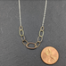 9 Ovals Mixed Metal Necklace