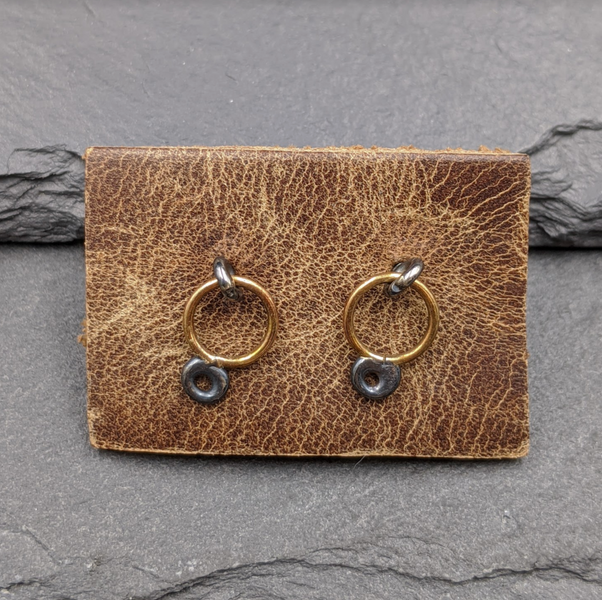 Mini Circle Studs in Gold and Silver
