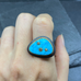 Kingman Turquoise Ring With Diamonds