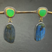 Labradorite and Chrysoprase Earrings