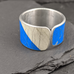 Recycled street sign ring