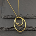 Gold Ellipses Pendant