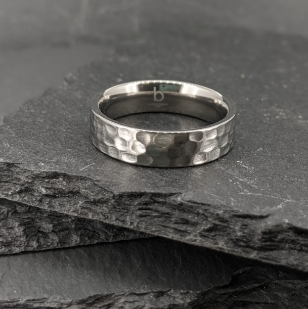 Hammered Titanium Ring