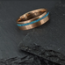 Rose Gold With Opal Inlay