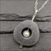 Hollowed Stone Wedge Pendant