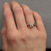 Offset Diamond Solitaire Engagement Ring Set