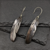 Silver feather earrigs