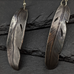 Sterling silver feather dangles