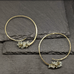 Large Aqua and Pyrite Blooming Hoops