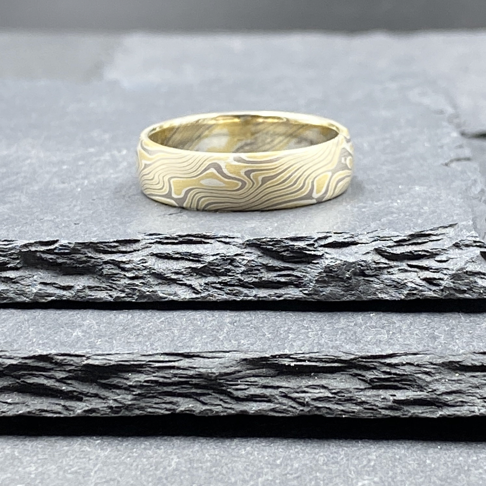 Mokume Gane Ring - Birch