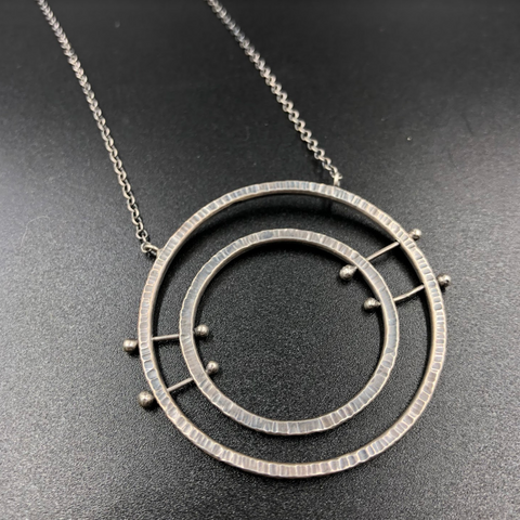 Double Circles Lines Necklace