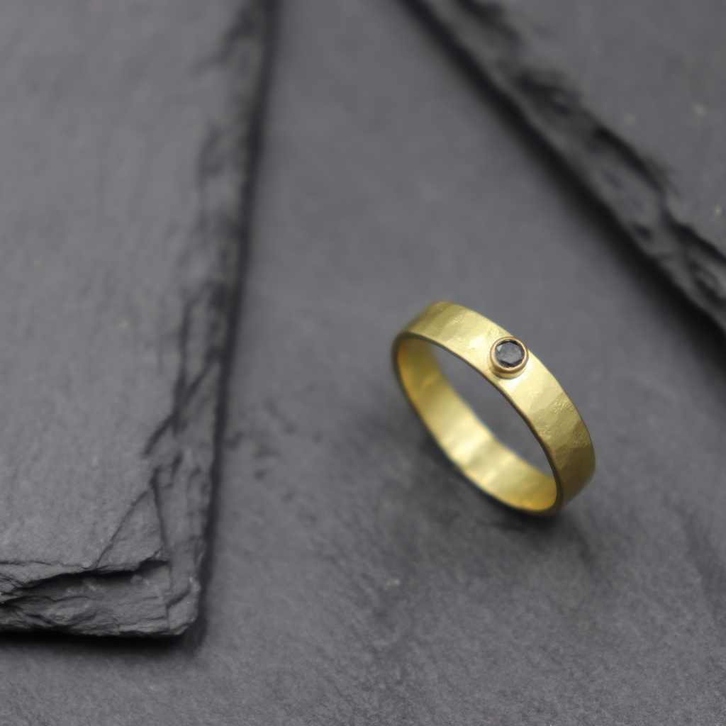 Parchment Band with Black Diamond