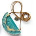 Archipelago Statement Necklace made from cast beach sand and colored resin. Modern resin jewelry