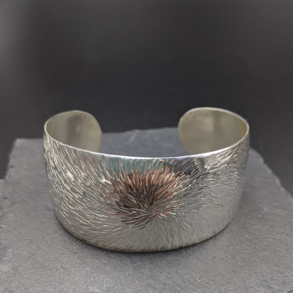 Large Hammered Cuff