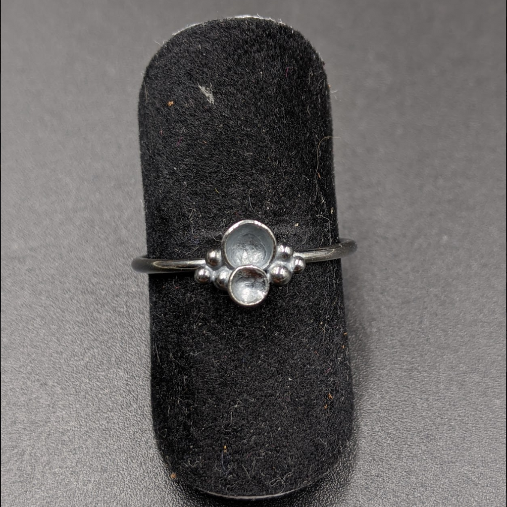 Oxidized Dome Stacking Ring