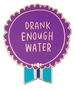 Emily McDowell Everyday Bravery Enamel Pins Drank Enough Water