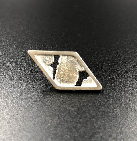 Diamond Tie Pin - Sterling